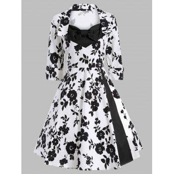 Printed Swing Vintage Dress