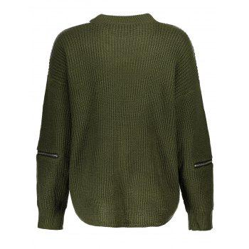 Chunky Choker Sweater - GREEN ONE SIZE
