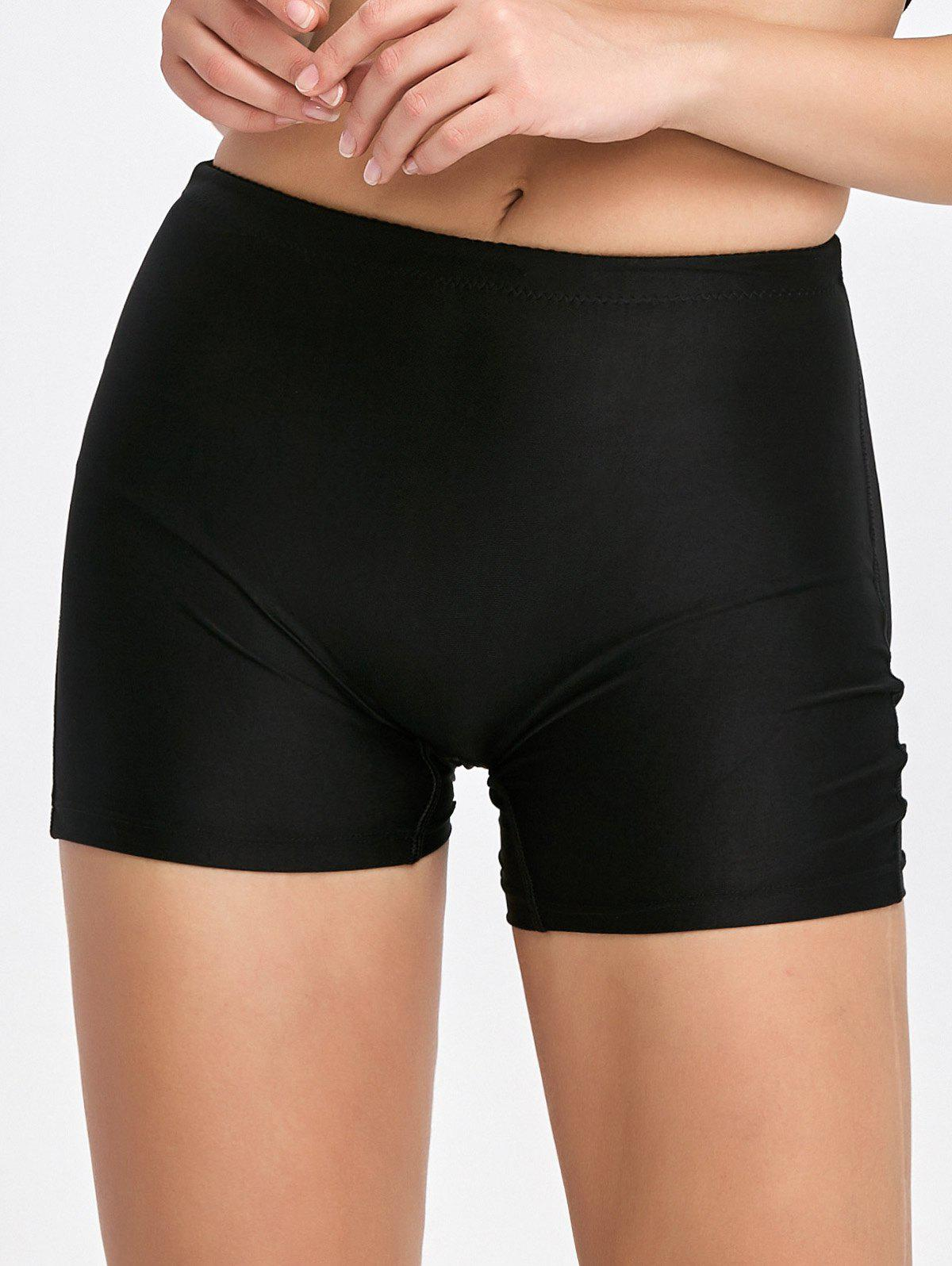 Padded Seamless Panties Boyshorts - BLACK 2XL