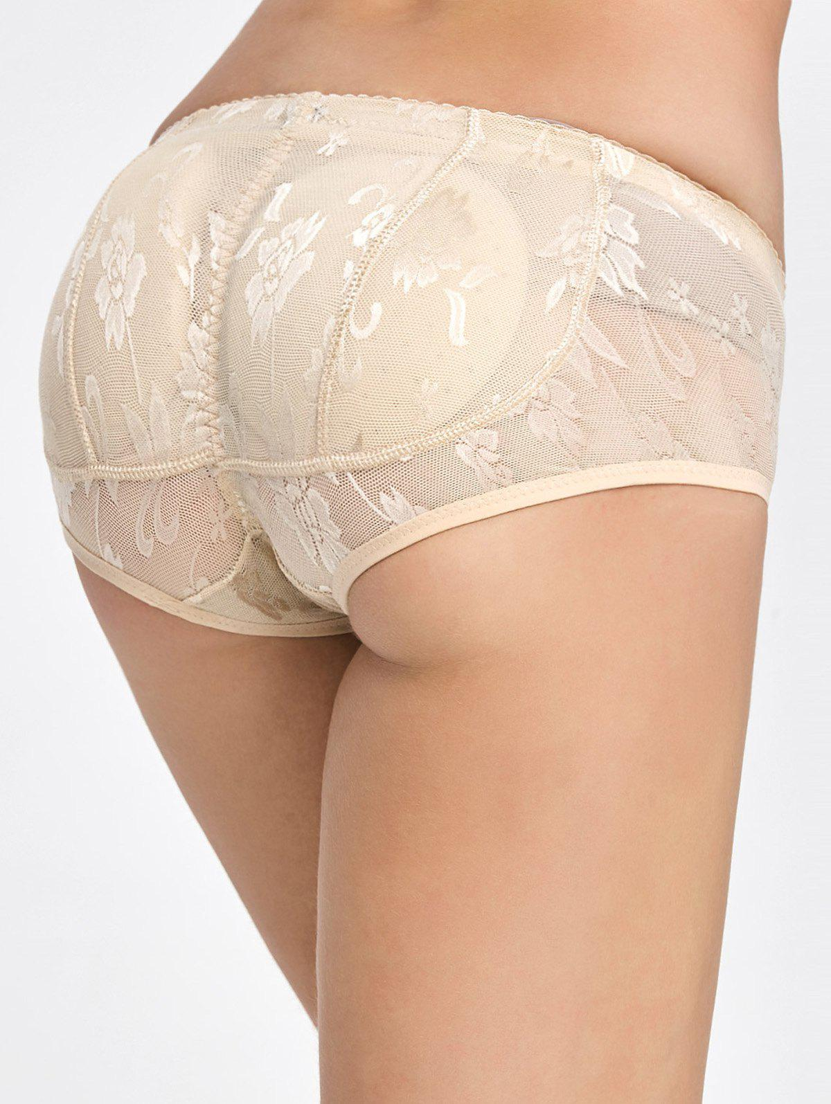 Padded Lace Insert Briefs - COMPLEXION M