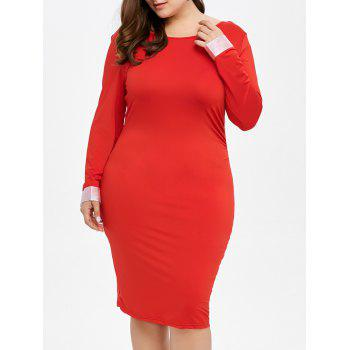 Backless Plus Size Dress