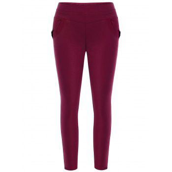 Plus Size Skinny Pencil Pants - DEEP RED 2XL