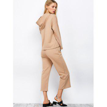 Hooded Top and Scrub Wide Leg Pants Twinset - S S