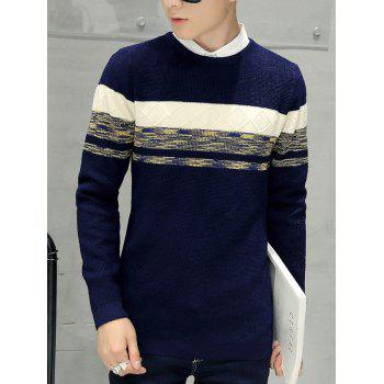 Texture Knitted Pullover Sweater