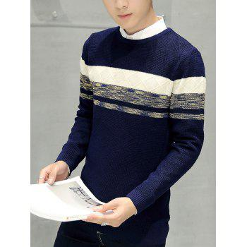 Texture Knitted Pullover Sweater - M M