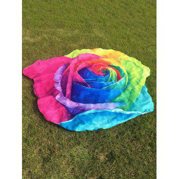 Multicolor Rose Beach Throw