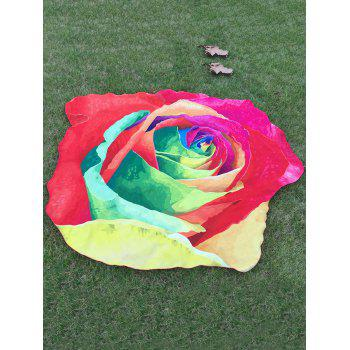 Multicolor Rose Beach Throw - RED RED
