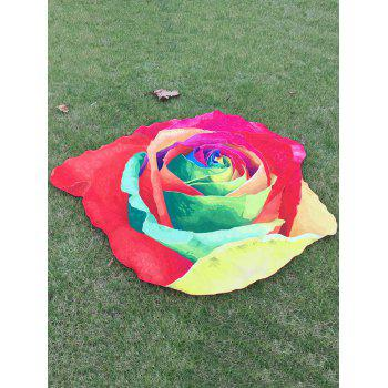 Multicolor Rose Beach Throw - RED ONE SIZE
