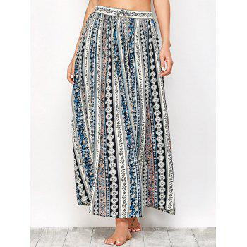 Printed Long Boho Skirt