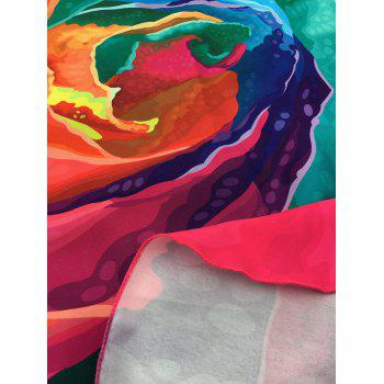 Multicolor Rose Beach Throw - ONE SIZE ONE SIZE