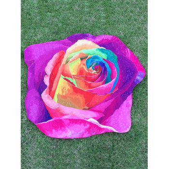 Multicolor Rose Beach Throw - PURPLE ONE SIZE