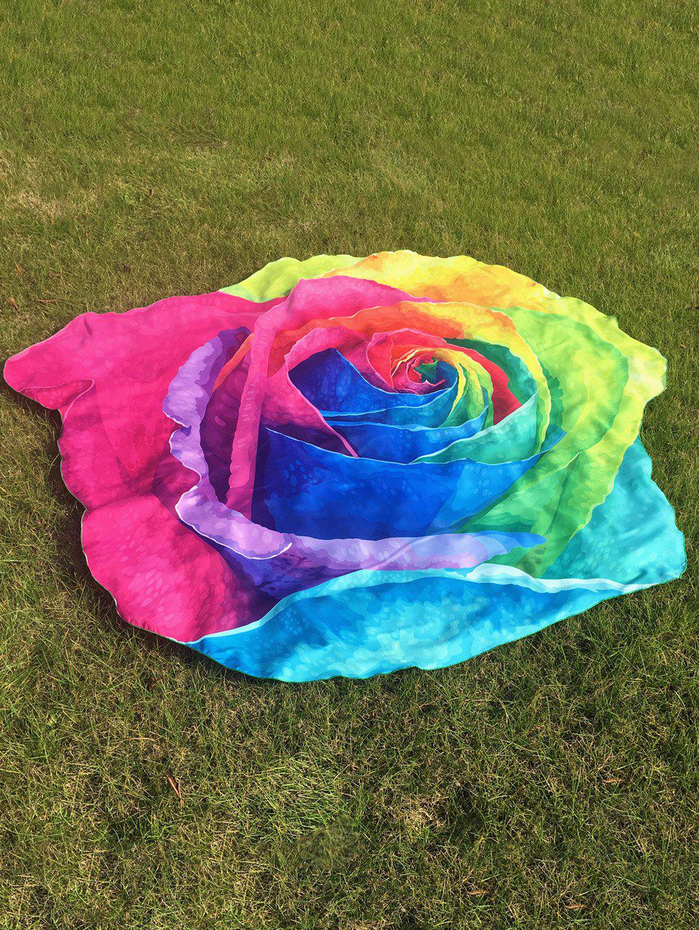 Multicolor Rose Beach Throw - COLORFUL ONE SIZE
