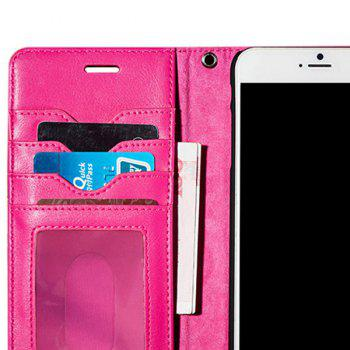 Faux Leather Card slot Case Flip Wallet pour iPhone - Rose Rouge FOR IPHONE 7 PLUS