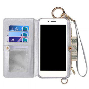 Multifounction Card Slot Faux Leather Flip Wallet Case For iPhone