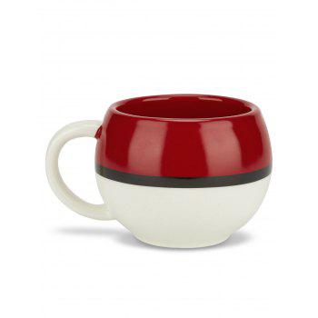 Ceramic Drinkware Cartoon Coffee Water Mug - RED/WHITE
