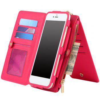 Metal Ring Detachable Zipper Wallet Case