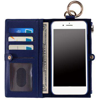 Flip Wallet Phone Case With Card Slot - BLUE FOR IPHONE 5 / 5S / SE