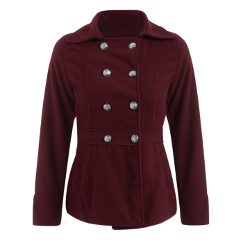 Slim Fit Double Breasted Peacoat