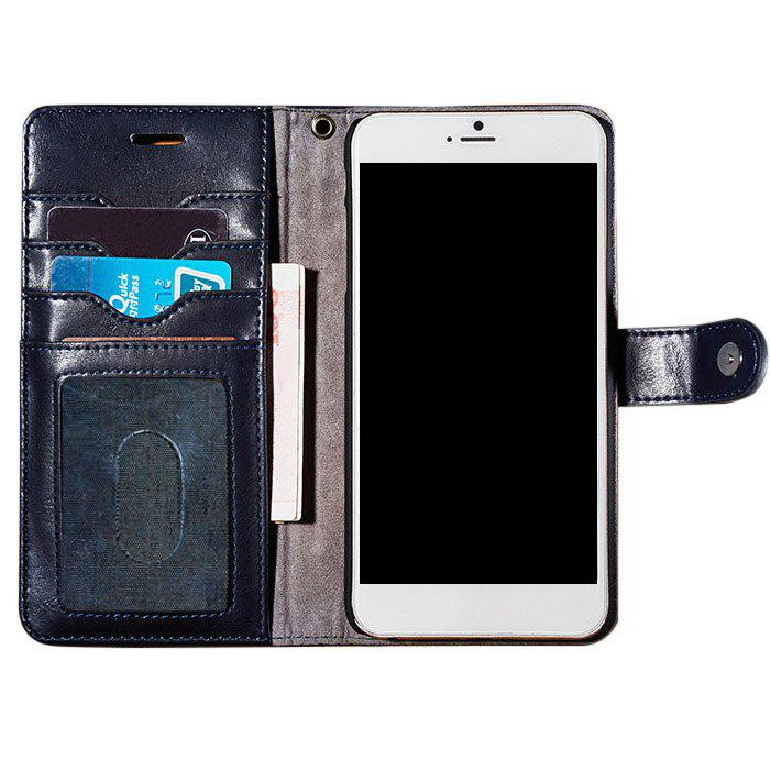 Faux Leather Card slot Case Flip Wallet pour iPhone - Bleu Foncé FOR IPHONE 7 PLUS