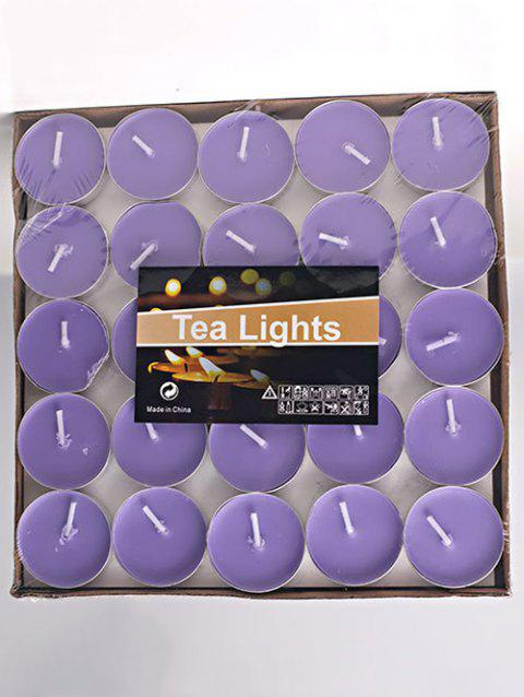 50PCS Unscented Smokeless Romantic Holiday Gift Wrapped Candles - LIGHT PURPLE