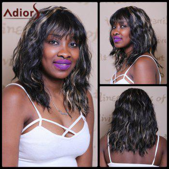 Adiors Medium Wave Highlight Full Bang Sophisticated Wig