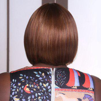 Adiors Short Straight Side Bang Mixed Bob Synthetic Wig -  BROWN