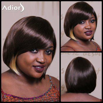 Adiors Short Bob Highlight Side Bang Silky Straight Synthetic Wig