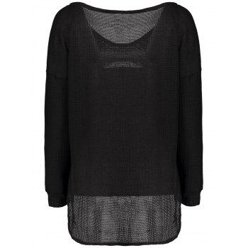 One-Shoulder Loose Sweater - M M