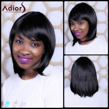 Medium Straight Full Bang Sophisticated Synthetic Capless Wig