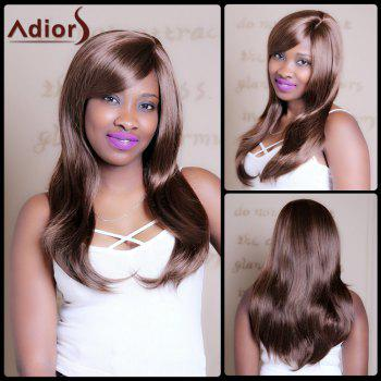Vogue Straight Side Bang Synthetic Attractive Dark Brown Mixed Capless Wig For Women