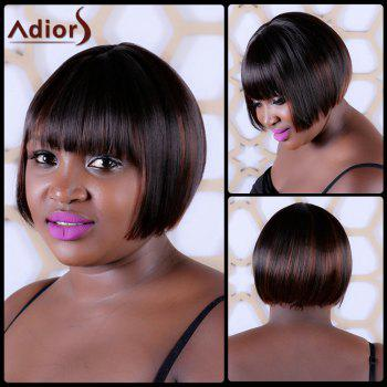 Sophisticated Short Straight Full Bang Synthetic Capless Wig