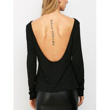 Solid Low Back T-Shirt - L L