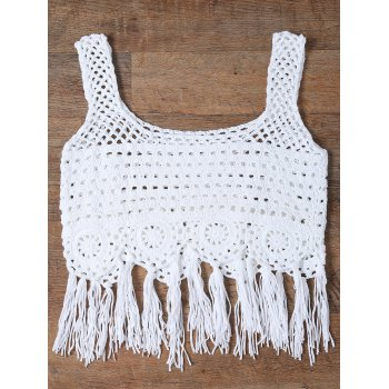 Frangé Découpez Out Tank Top Women 's - Blanc ONE SIZE(FIT SIZE XS TO M)