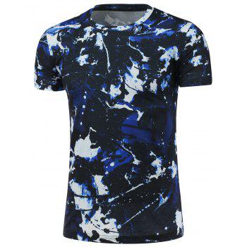 Short Sleeve Crew Neck Camouflage T-Shirt