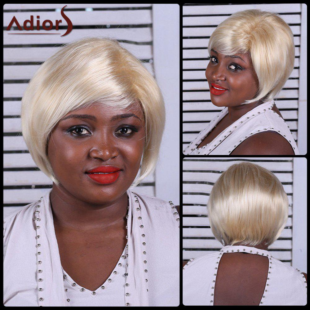Adiors Straight Side Bang Short Synthetic Wig - COLORMIX