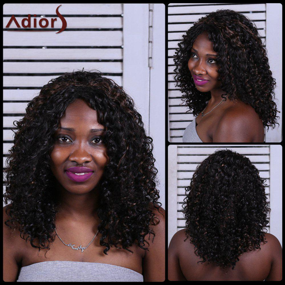 Charming Brown Heat Resistant Synthetic Long Fluffy Curly Capless Wig For Women - BLACK/BROWN