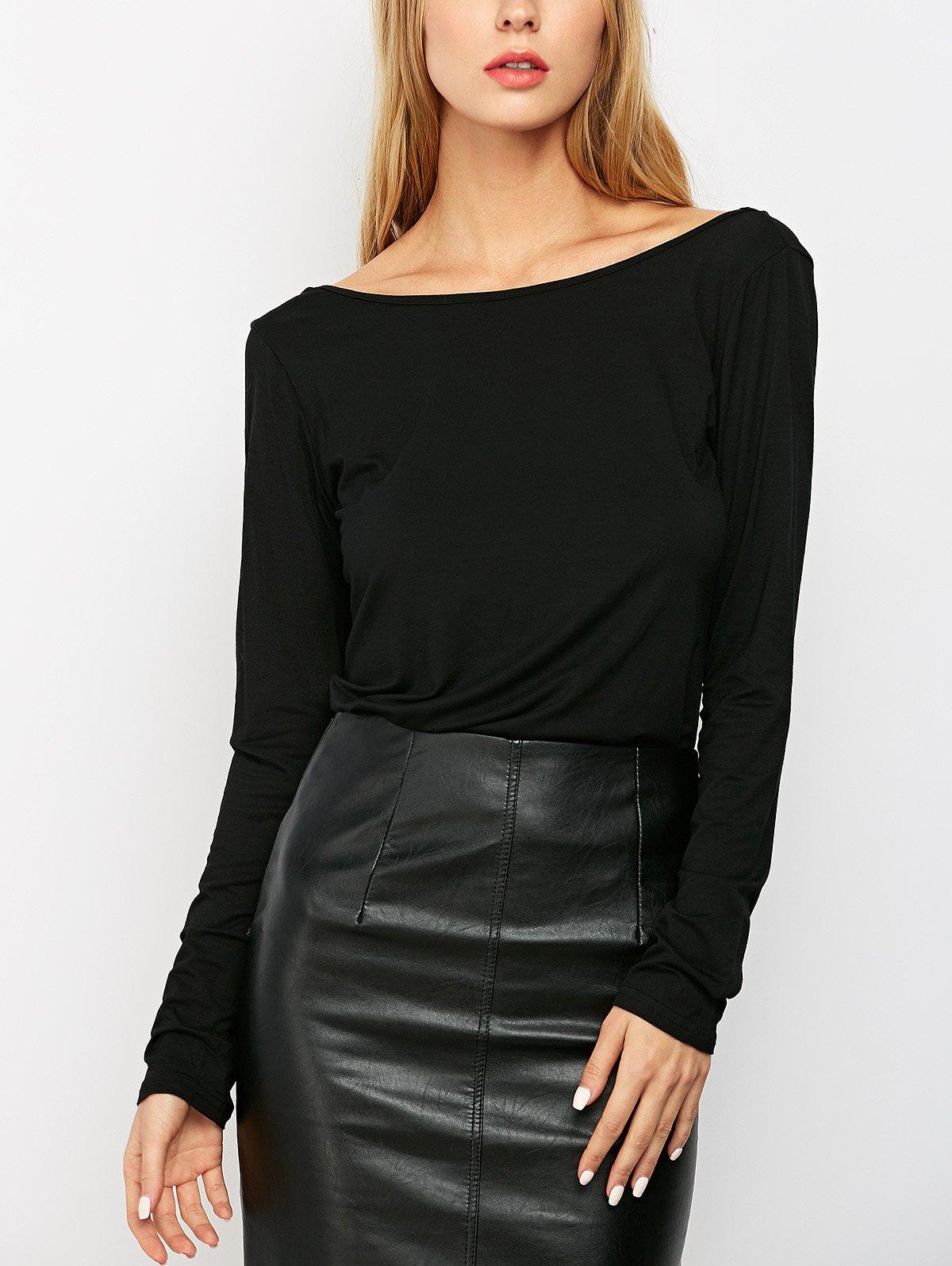 Solid Low Back T-Shirt