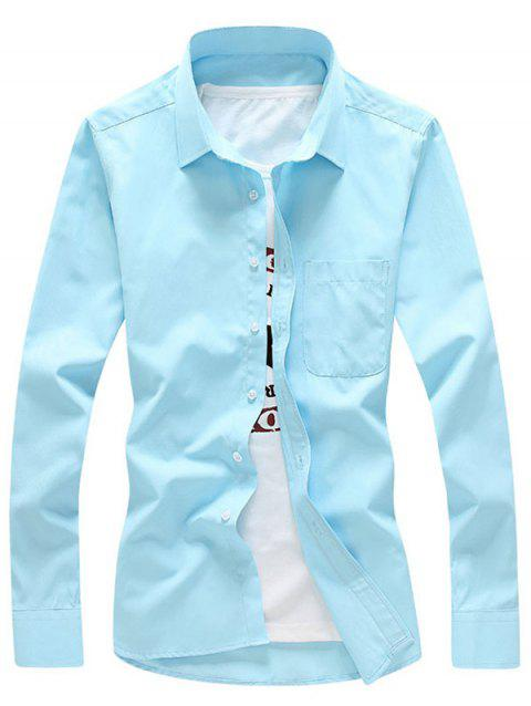Twill Chest Pocket Button Up Shirt - Pers M