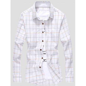 Button Front Grid Shirt