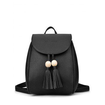 Tassel Wood Bead Backpack
