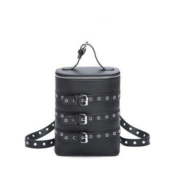 Convertible Eyelets Buckle Straps Backpack