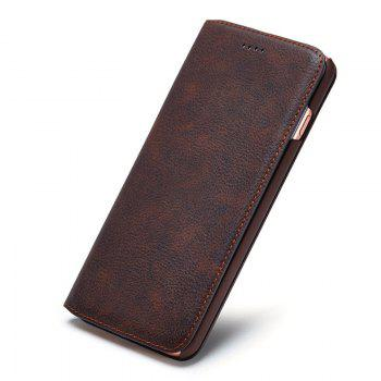 Ultra Slim Flip Faux Leather Wallet Case For iPhone