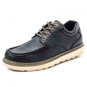 Lace Up Moc Toe Casual Shoes