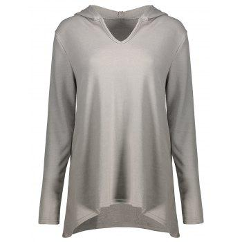 Casual Long Sleeve High Low Hoodie