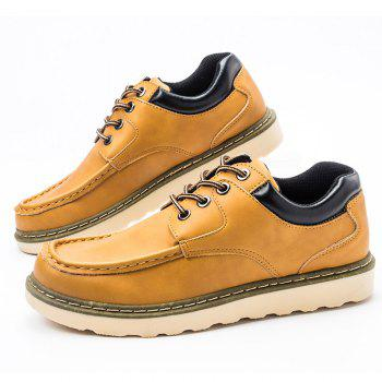 Lace Up Toe Moc Souliers - Jaune 39
