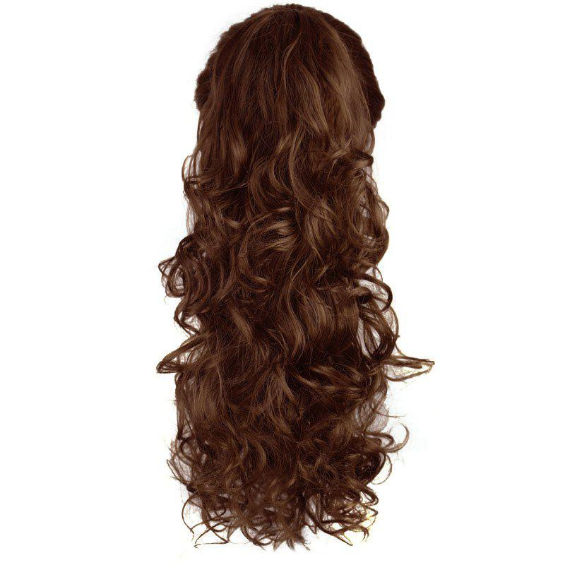 Vogue Long Curly Charming Heat Resistant Fiber Trendy Capless Women's Ponytail - 2