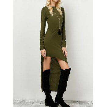 Long Sleeve Cut Out Long Fitted Dress