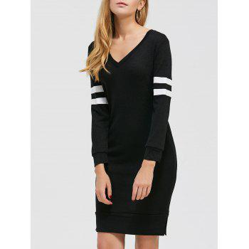 Color Block Knee Length Casual Dress Fall