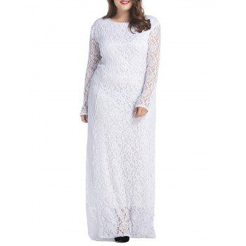 Plus Size Floral Lace Maxi Dress