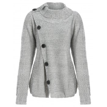 Asymmetrical Button Design Cardigan